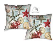 Beach Shells Decorative Pillow – Laural Home