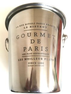 Vintage French Champagne Bucket GOURMET DE by LePasseRecompose