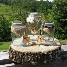 Check out this item in my Etsy shop https://www.etsy.com/listing/240271919/rustic-wedding-unity-sand-ceremony-set