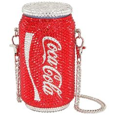 The Good Practice Women Coca Cola Can Embellished Bag (38.625 RUB) ❤ liked on Polyvore featuring bags, handbags, bolsa, red, embellished handbags, decorating bags, embellished purse, red purse and red bag