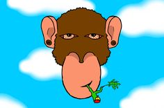 #gif #digital #art #monkey #digitalart #420 #illustration