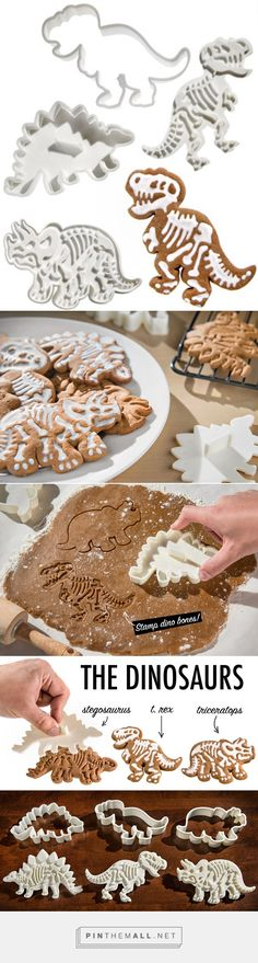 Dig-Ins Dinosaur Fossil Cookie Cutters, you can make perfect dinosaur party food or party favors for your dinosaur birthday party! Dinosaur Cookies, Dinosaur Cake, Dinosaur Birthday Party, 6th Birthday Parties, Birthday Bash, Dinosaur Cookie Cutters, Birthday Ideas, Cookie Decorating, Cupcake Cakes