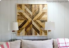 DIY Home Decor | DIY Wall Art | Planked Wood Quilt Square Wall Art {a Pottery Barn knock off}