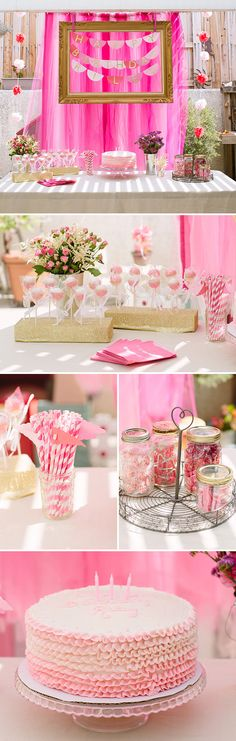Gold and Pink Ombre Dress-Up Birthday Party