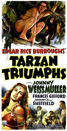 Tarzan Triumphs (1943) was one of the most popular Weissmuller films. Released at the height of WWII, it featured Tarzan taking on Nazi troops deep in the jungle.