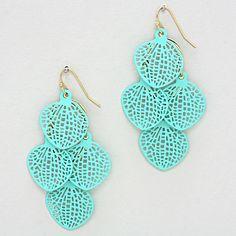Avi Chandelier Earrings in Turquoise