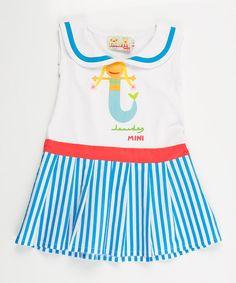 White Mermaid Sailor Dress - Infant, Toddler  Girls