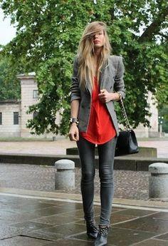 Zara  Blazers, Vintage  Tanks and Zara  Jeans