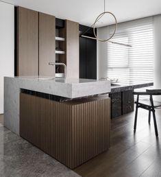 Kitchen Cabinet Design, Interior Design Kitchen, Kitchen Decor, Paris Kitchen, Minimal Kitchen, Minimalist House Design, Residential Interior Design, Home Design Decor, Interior Styling
