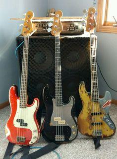 PPJ, a Fender trio of basses
