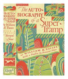 William H. Davies, The Autobiography of a Super-Tramp, Cover by William Addison Dwiggins. Book Cover Art, Book Cover Design, Book Design, Book Art, Art Nouveau, Precious Book, Pop Rock, Red Books, Beautiful Book Covers