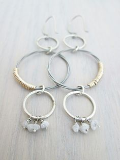 Guitar String Earrings by The Chestnut Forge   Shop Now: http://thechestnutforge.com/product/diamond-guitar-string-hoop-dangles/