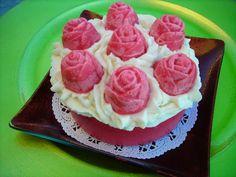 Fresh Cut Roses scented mini soap cake