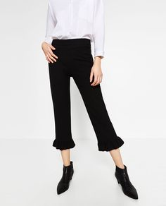 FRILLED TROUSERS-View all-TROUSERS-WOMAN | ZARA United States