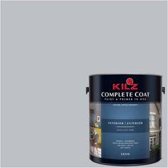 Kilz Complete Coat Interior/Exterior Paint & Primer in One, #RK180 Platinum Ring, Silver