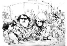 Lorenzo Mattotti, sketch from the 70s