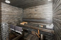 What a beautiful sauna!