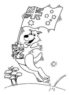 around the world week australia coloring page - Australia Coloring Pages Kids