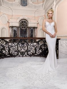 The FashionBrides is the largest online directory dedicated to bridal designers and wedding gowns. Find the gown you always dreamed for a fairy tale wedding. Crepe Wedding Dress, Amazing Wedding Dress, Bridal Wedding Dresses, Bridal Outfits, Bridal Style, Brides And Bridesmaids, Bridesmaid Dresses, Ellis Bridal, Plunging Neckline