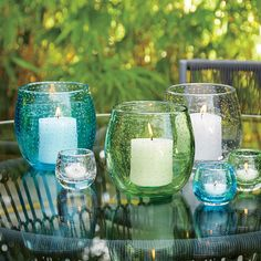 A bubbly personality and friendly rounded shape add sparkle to any indoor or outdoor setting before you light the candle.