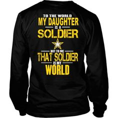 Army - To The World My Daughter Is A Soldier- Back Design