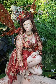 Desifairy (A Fire Fairy) at the Texas Renaissance Festival Cool Costumes, Halloween Costumes, Fairy Costumes, Adult Costumes, Autumn Fairy, Autumn Witch, Faerie Costume, Fire Fairy, Kobold