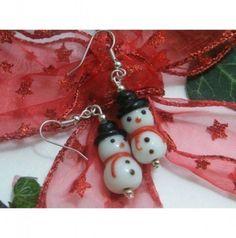 regalo home made : orecchini a soggetto natalizio