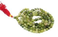 Ancient-Green-Moldavite-8mm-108-Round-Beads-Tibetan-Hindu-Buddhist-Prayer-Mala