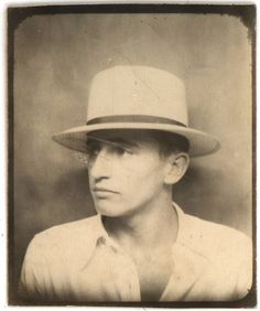 Grandfather Glenn. photobooth late '20's, early '30s    http://www.flickr.com/photos/freeparking/2278342525/