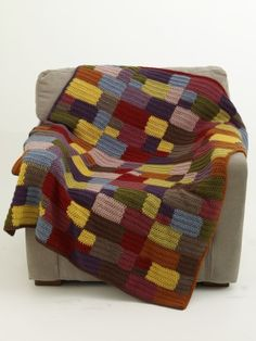 Patchwork Squares Blanket - intermediate (free instructions - stash buster)