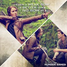 """""""You've got to get your hands on a bow. That's your best chance."""" - Gale Hawthorne to Katniss Everdeen, team Peeta but I like this quote and I like Gale Hunger Games Saga, Hunger Games Movies, Hunger Games Catching Fire, Game Quotes, Movie Quotes, Book Quotes, Gale Hawthorne, I Volunteer As Tribute, Interview"""