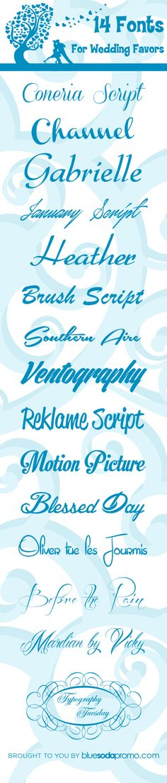14 Free Fonts For Your Wedding Favors