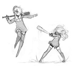 Kliar doodles that have been sitting around my drafts for awhile. I don't think she even knows how to play baseball tbh.