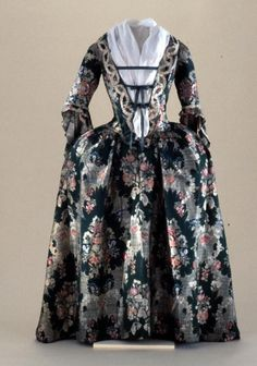 Robe a l'Anglaise, created ca. 1730s, altered ca. 1750via...