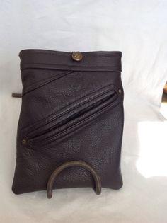 Great upcycled leather jacket mini iPad sleeve by Retrorefab, $28.00