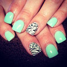 super cute. i love light blue nails