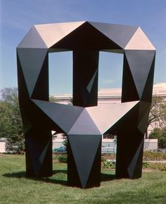 Geometry and Tony Smith Sculpture. Scultpure pictured: moondog --- National Gallery of Art Geometric Sculpture, Abstract Sculpture, Sculpture Art, Outdoor Sculpture, Clay Sculptures, Geometric Art, Garden Sculpture, Cardboard Model, Cardboard Sculpture
