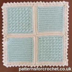 Free crochet pattern for square motifs from http://patternsforcrochet.co.uk/5-inch-motifs-usa.html #patternsforcrochet #freecrochetpatterns