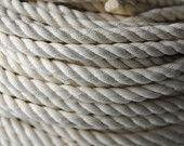 Nautical Decor - DIY Cotton Rope - Cotton Rope - Nautical Wedding - (3/8 inch diameter) (per 15 feet)