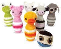 Bolwing Pins by Karin Godinez Crochet Pattern from the book Fun and Easy Amigurumi on Amazon