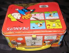 Peanuts Metal Lunchbox Comic Strip Design Snoopy Charlie Brown Lucy