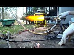 ▶ Siphon Oil burner running on 100% waste motor oil - YouTube