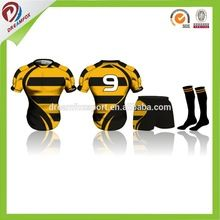 wholesale 2017 rugby uniforms OEM service mens cheap sublimation custom team set rugby jersey sublimated