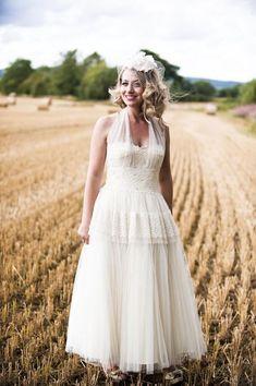 Original 1940s wedding dress, from Fur Coat No Knickers...