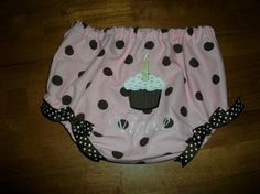 Birthday Cupcake Bloomers appliqed with cupcake by kandybarnett, $12.00