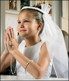 "Girls White Braided First Communion Veil, Material: Lace/beads Size: 25 1/2"" L, a Child's First Holy Communion Is One of the Most Important Events in Their Life. Help Her Make the Day Extra Special with One of Our Beautiful Braided First Communion Veils. She Will Look Absolutely Radiant Wearing This Fancy, Traditional Styled Veil Made of Nylon Mesh and Imitation Pearl Beads. Each Veil Is Designed so That It Can Be Easily Worn Atop Any Hair Style and Is Sure to Compliment Any Traditional…"