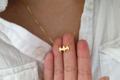 Stunning Small Batman Necklaces / Choose color 18k by seeflower