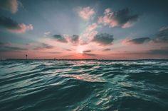 zonsondergang zee