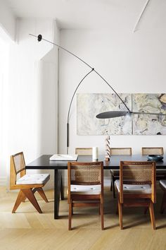 Home Decor 2019 Image may contain Furniture Chair Table Dining Table Tabletop Indoors Wood and Room.Home Decor 2019 Image may contain Furniture Chair Table Dining Table Tabletop Indoors Wood and Room Pierre Jeanneret, Le Corbusier, Jugendstil Design, Dining Room Inspiration, Higher Design, Interior Photography, Chandigarh, Dining Room Design, Beautiful Interiors