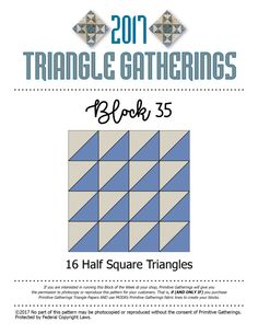 Block 35!!! Triangle Gatherings.. | Lisa Bongean's Weblog